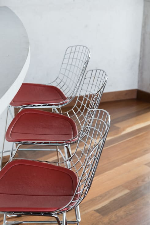 Casa HLM: Salas de jantar modernas por Boa Arquitetura