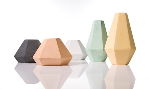 Korridor coloured concrete candleholder:  Household by An Artful Life