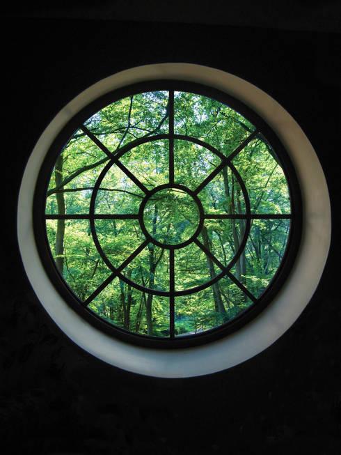 Round Heritage Bronze Casement:  Windows & doors  by Architectural Bronze Ltd