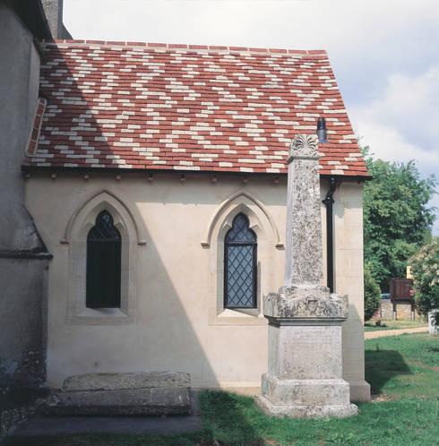 Shaped Heritage Bronze Casements on Refurbished Church:  Windows & doors  by Architectural Bronze Ltd