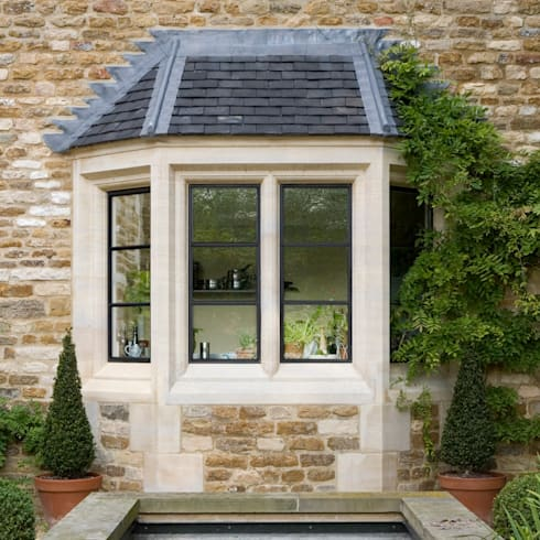 Heritage Bronze Casements with Transom Bars:  Windows & doors  by Architectural Bronze Ltd