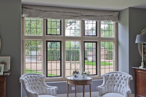 Traditional Leaded Heritage Bronze Casements:  Windows & doors  by Architectural Bronze Ltd