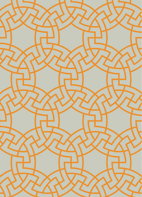 MICA Zen Rainbow Collection - Orange:  Walls & flooring by Mica Gallery Ltd