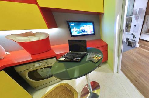 Lavanderia - Casa Cor: Cozinhas modernas por Rozânia Nicolau Arquitetura & Design de Interiores