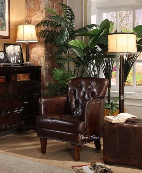 Leather Armchair: classic Living room by Locus Habitat