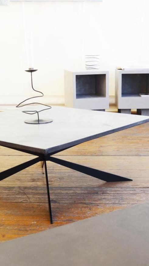 Table basse b ton cir concr te coffee table by auzier for Table basse beton cire