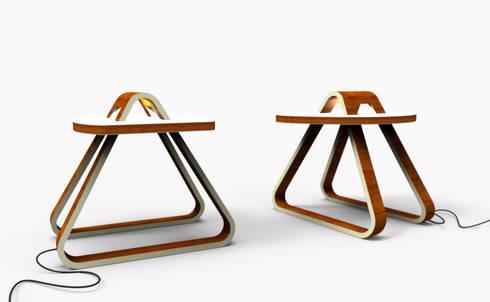 table T9: Salon de style de style Moderne par Design9