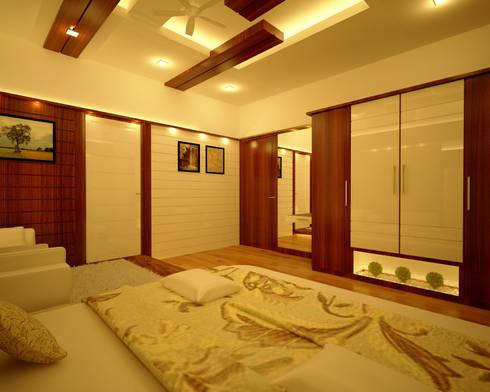 Bridal Bedroom: modern Bedroom by Nimble Interiors