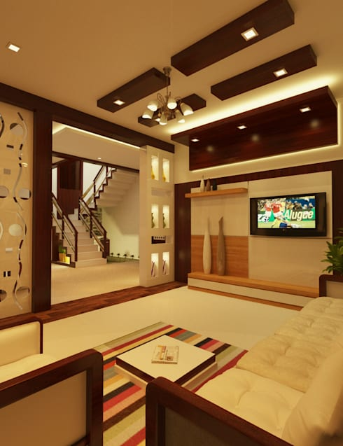 Full Home Interior Latest Designs:  Living room by Nimble Interiors