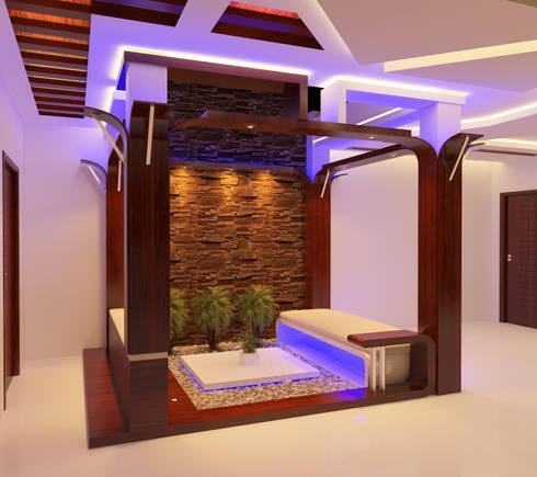 Modern Courtyard:   by Nimble Interiors