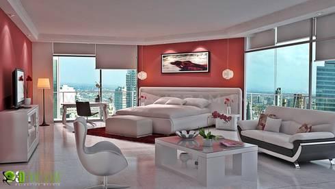 3D Interior CGI Design Rendering Of Modern Bedroom