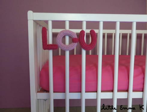 little emma k knitname lettre en tricot pour berceau homify. Black Bedroom Furniture Sets. Home Design Ideas