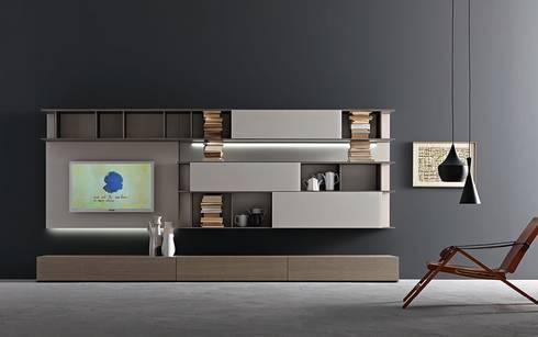 Salon De Style De Style Moderne Par Wohnstation