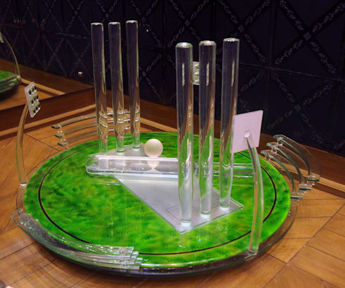 glass cricket stadium :  Artwork by atlantic designer glass