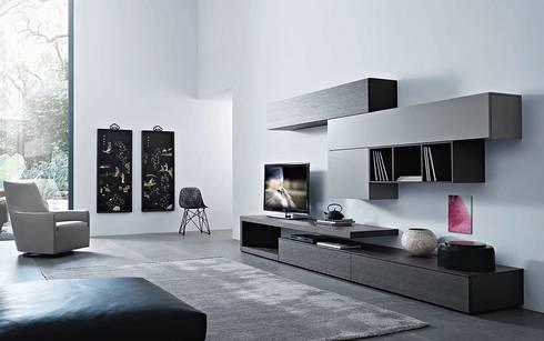 Perfekt Design Wohnwände. Modifier · Salon De Style De Style Moderne Par Wohnstation