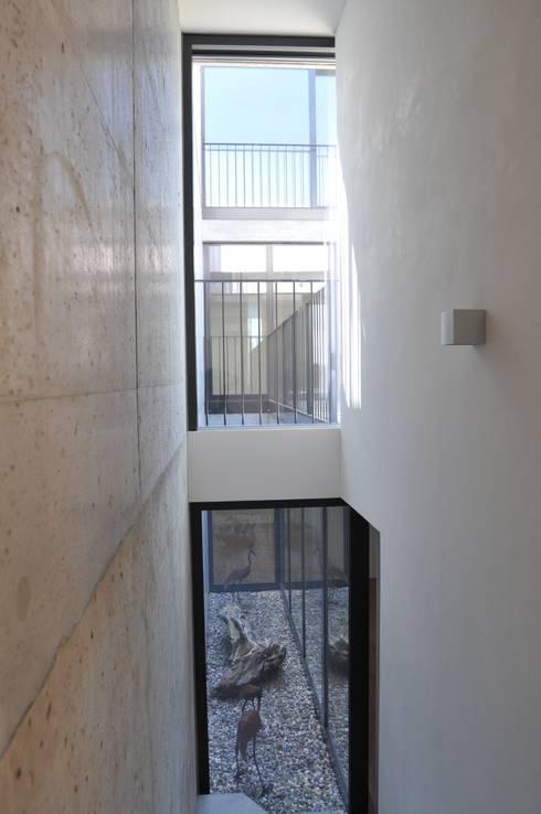 patio über 3 geschosse:  Terrasse von raum.werk.plus. architektur + raumdesign