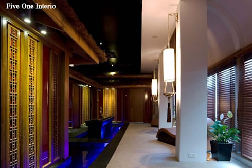 ORCHID SPA:  Commercial Spaces by Five One Interio