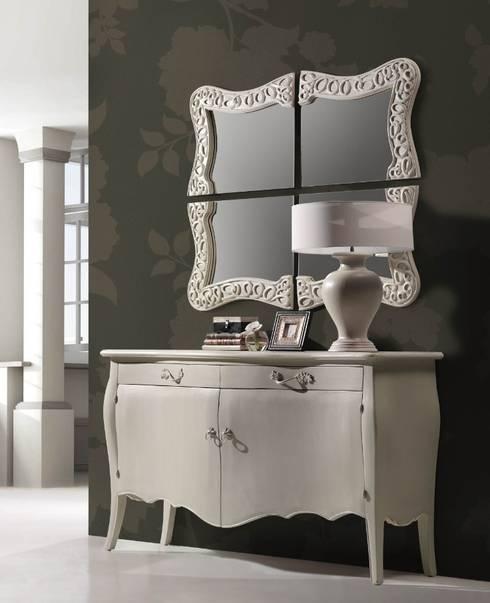 Espejo Vintage Blanco Nabil: Vestidores de estilo  de Ámbar Muebles