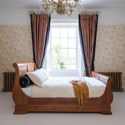Sleigh Bed Low: country Bedroom by THE STORAGE BED