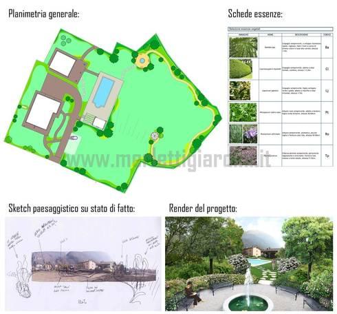 Parco privato: Giardino in stile  di Merletti Garden Design