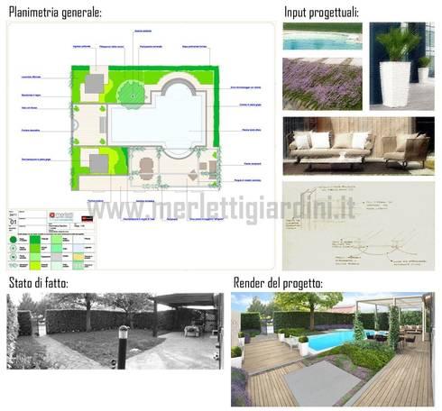 Piccolo giardino con spa: Giardino in stile  di Merletti Garden Design