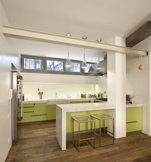 Cucina a parete con penisola o con isola 3 cucine a for Penisola mobile cucina