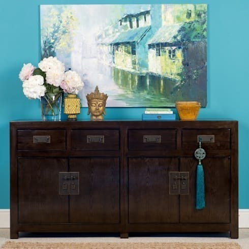 Brown Lacquer Sideboard - Mandarin Collection: asian Living room by Orchid
