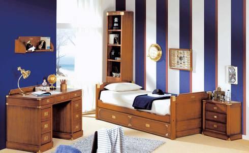 DORMITORIO MARINERO: Dormitorios de estilo rústico de Muebles Flores Torreblanca
