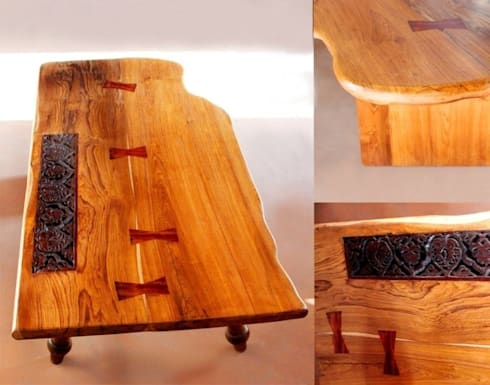 Tables:  Dining room by Uttara And Adwait Furniture