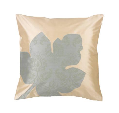 Maple Leaf Handmade Silk Cushion: tropical Living room by Le Cocon