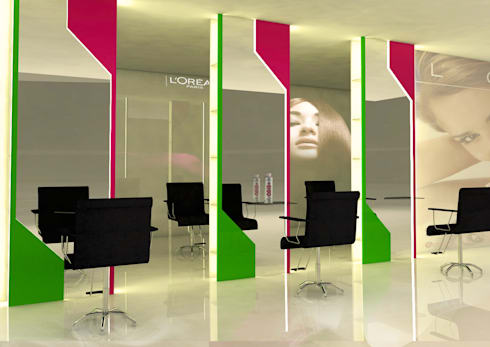 Salon Interior Elements:  Office spaces & stores  by MRN Associates