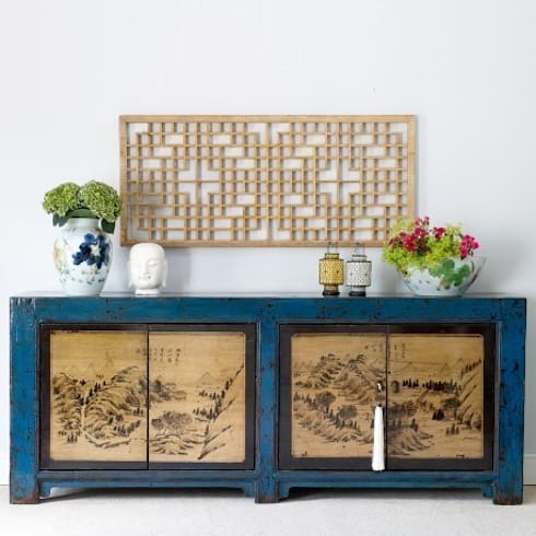 Teal Sideboard, Gansu Province c.1900: asian Living room by Orchid