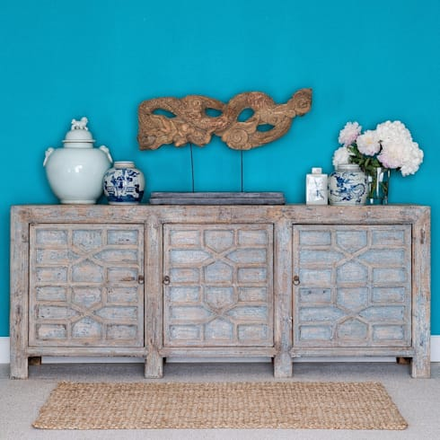 Chinese Paneled Sideboard Gansu Province c.1900: asian Living room by Orchid