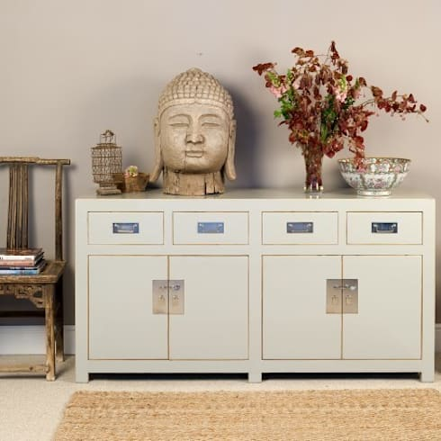 Grey Lacquer Sideboard - Mandarin Collection: asian Living room by Orchid