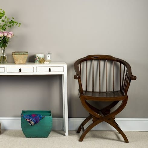 Brown Lacquer Horn Chair: asian Dining room by Orchid