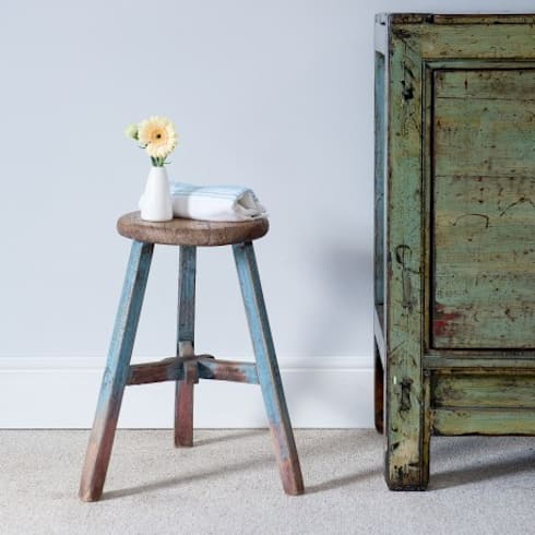 Elm Round Stool c.1880 Shandong Province: asian Dining room by Orchid