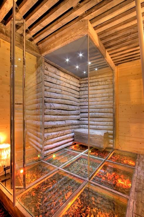 Betulla Spa: styl rustykalne, w kategorii Spa zaprojektowany przez Bosc Vej s.r.l.