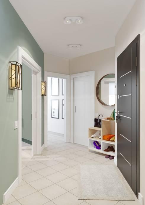 Яркая индивидуальность в типовой квартире: Коридор и прихожая в . Автор – Anna Clark Interiors