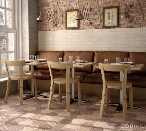 Hexatile Decor Lovely colours 17,5x20: Comedores de estilo rural de Equipe Ceramicas