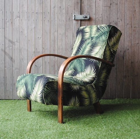 Art Deco Bentwood Palm Chair: tropical Living room by Sketch Interiors