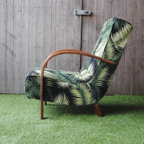 Art Deco Bentwood Palm Chair : tropical Living room by Sketch Interiors