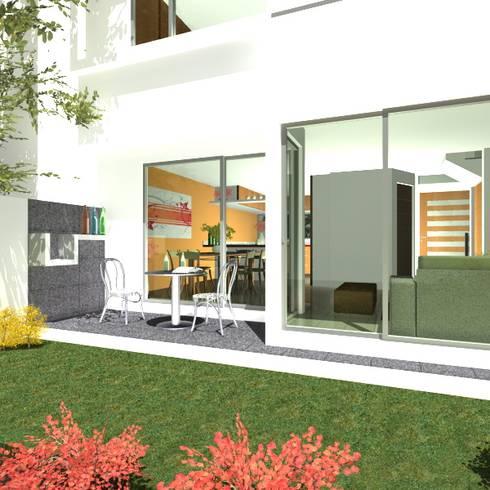 TU CASA LLENA DE LUZ : Jardines de estilo minimalista por SPAZIA