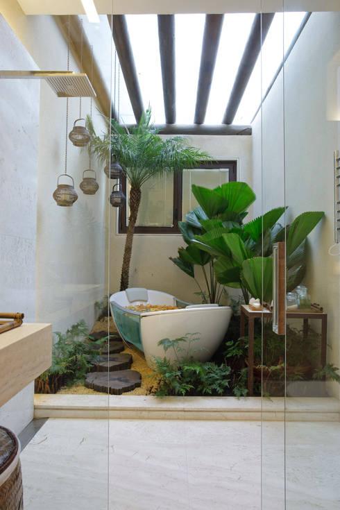 CASA DO MORRO: Casas  por Eduarda Corrêa Arquitetura & Interiores