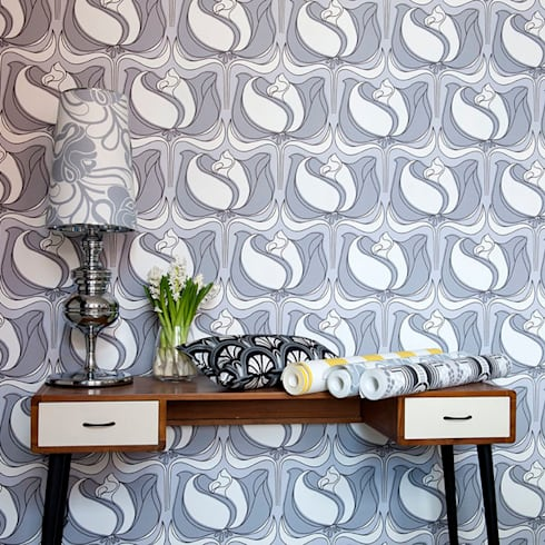 Nancy Wallpaper:  Walls & flooring by Gill Nono