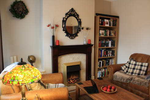 before: eclectic Living room by Girl About The House