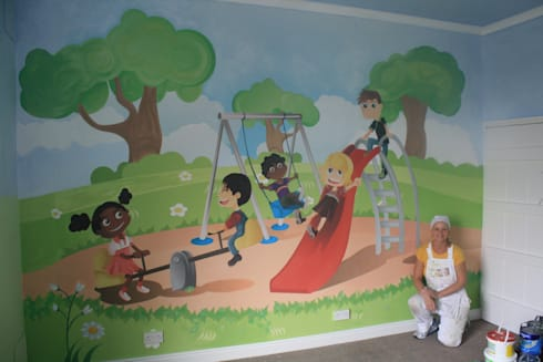 after mural: eclectic Nursery/kid's room by Girl About The House