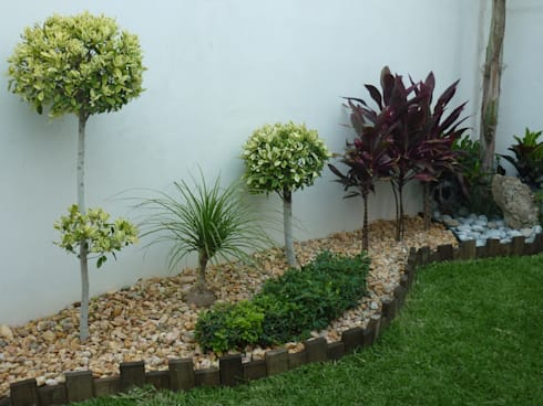 DISEÑOS DE JARDINES: Jardines de estilo moderno por VIVERO CUMBRES ELITE