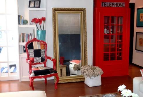 Sala Loft: Salas de estilo ecléctico por Sandra Molina