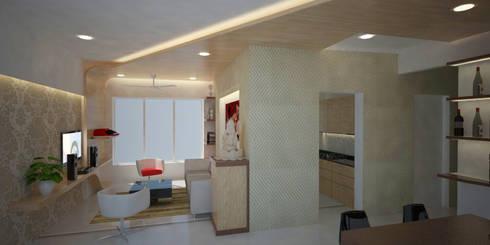 Damle residence:   by Pankaj Mhatre Architects.