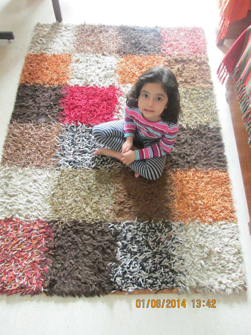 Hand Tuffted Modern Rug: modern Nursery/kid's room by Indus Shanti Carpets India Pvt Ltd